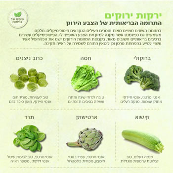 בריאות ירקות ירוקים