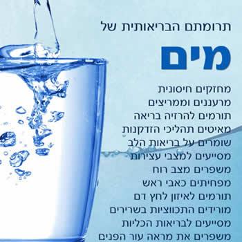 מים - תרומה בריאותית