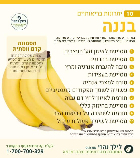 בננה - יתרונות בריאותיים