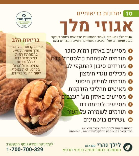 אגוזי מלך - יתרונות בריאותיים
