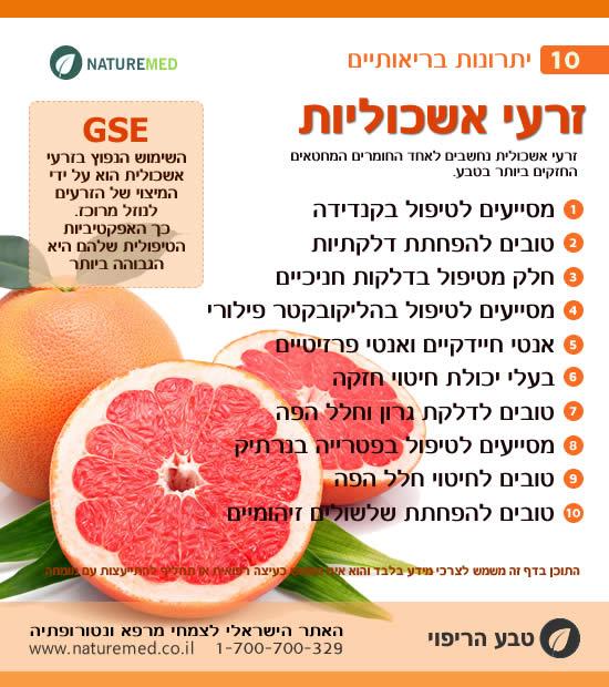 זרעי אשכוליות - יתרונות בריאותיים