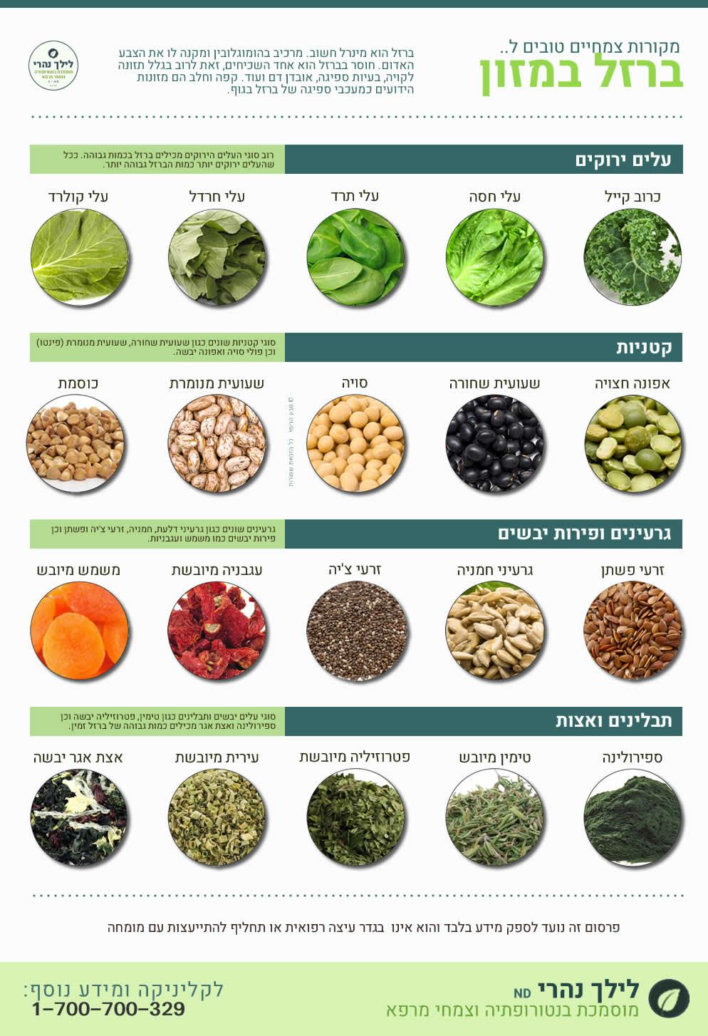מקורות לברזל צמחי