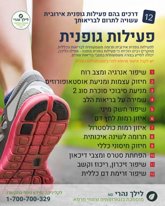תרומה בריאותית של פעילות גופנית