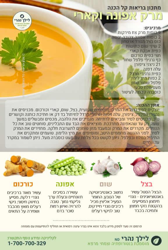 מרק אפונה בריא לטיפול בכבד שומני