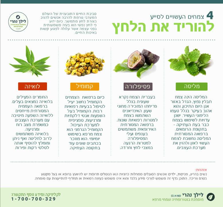 צמחים והורדת מתח ולחץ